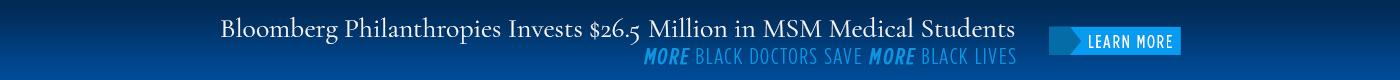 bloomberg philanthropies donation banner
